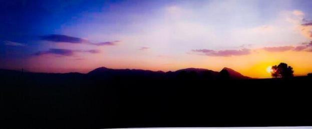 paesaggio rurale libro filippo cannata tramonto